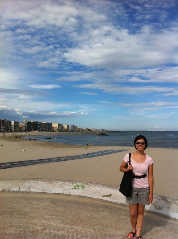 Standing near the beach at Palavas les Flots
